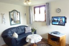 Sitzbereich mit 26''-LCD-Fernseher und Schlafsofa (190 x 140 cm)