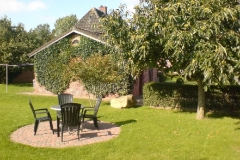 Zusätzlich zum Balkon: Gartensitzplatz Wohnung OG unter Esskastanie