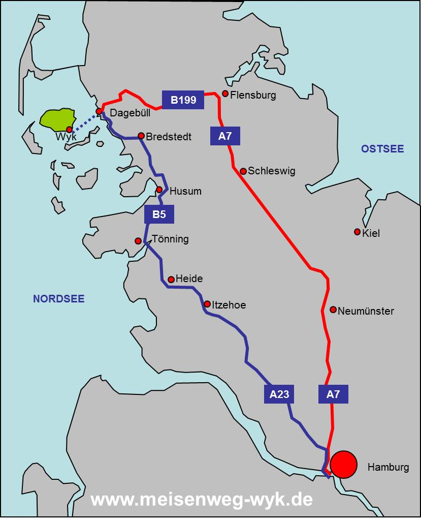 Anreise Schleswig-Holstein