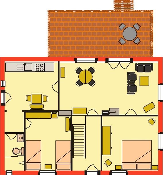 Grundriss Wohnung Erdgeschoss