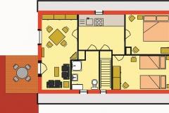 Grundriss Wohnung Obergeschoss