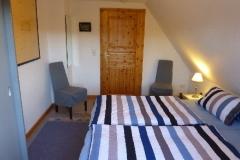 Schlafzimmer 1: Doppelbett, 200 x 200 cm groß